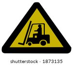 forklift truck sign...   Shutterstock . vector #1873135