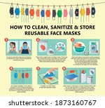 how to clean  sanitize and...   Shutterstock .eps vector #1873160767