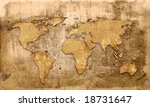 world map vintage artwork   Shutterstock . vector #18731647