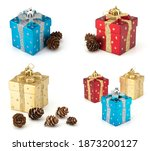 Christmas Boxes And Pine Cones...