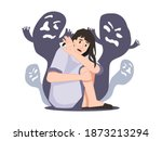 personage suffering from... | Shutterstock .eps vector #1873213294