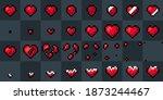 heart pixel art animation....