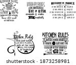 kitchen rules bundle is...   Shutterstock .eps vector #1873258981