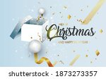 christmas background box and... | Shutterstock .eps vector #1873273357