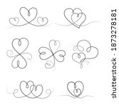 set of continuous drawings of... | Shutterstock .eps vector #1873278181