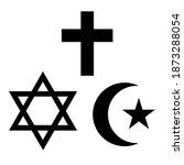 three world religions symbols.... | Shutterstock .eps vector #1873288054