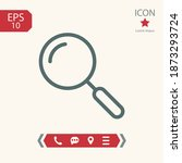 search line icon  outline...