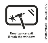 emergency exit icon. break the... | Shutterstock .eps vector #1873313977