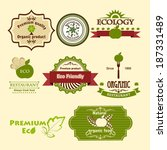set of eco icons. for for food... | Shutterstock .eps vector #187331489