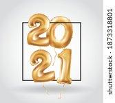 happy new year metallic gold...   Shutterstock .eps vector #1873318801