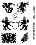 heraldry design elements | Shutterstock .eps vector #18733201