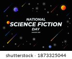 national science fiction day....   Shutterstock .eps vector #1873325044