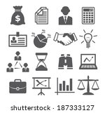 business icons | Shutterstock . vector #187333127