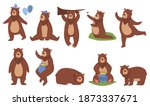cute brown bear vector... | Shutterstock .eps vector #1873337671