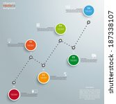 timeline with circles on the... | Shutterstock .eps vector #187338107