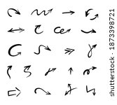vector set of hand drawn arrows ... | Shutterstock .eps vector #1873398721