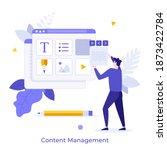 man organizing digital elements ...   Shutterstock .eps vector #1873422784