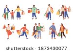 shopping characters. retail... | Shutterstock .eps vector #1873430077