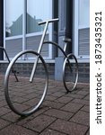 Silver Bicycle Stand Bicycle...