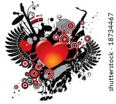 vector illustration on a... | Shutterstock .eps vector #18734467
