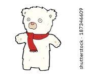 cartoon cute polar bear | Shutterstock .eps vector #187346609