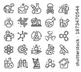 chemistry lab line icons.... | Shutterstock .eps vector #1873470544
