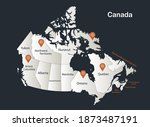 canada map  infographics flat... | Shutterstock .eps vector #1873487191