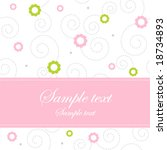 floral greeting card   baby... | Shutterstock .eps vector #18734893