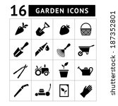 set icons of garden isolated on ... | Shutterstock .eps vector #187352801