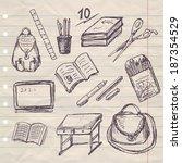 school set | Shutterstock .eps vector #187354529