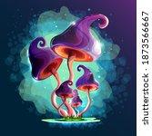 mushrooms. magic mushrooms in a ... | Shutterstock .eps vector #1873566667