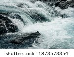 Big Rapids Of Powerful Mountain ...