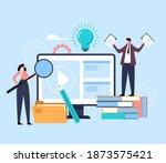 educational web learning... | Shutterstock .eps vector #1873575421