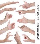 collage of eleven woman hands...   Shutterstock . vector #187358279