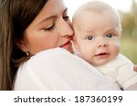 happy young mother having fun... | Shutterstock . vector #187360199