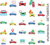 car accident isolated set that ... | Shutterstock .eps vector #1873680514