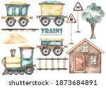 Ute Cartoon Train Sideways ...