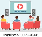 entertainment with internet...   Shutterstock .eps vector #1873688131