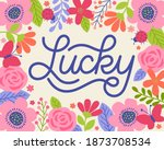 """lucky"" typography design with... 