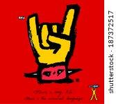 music poster | Shutterstock .eps vector #187372517