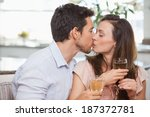 close up of a loving young... | Shutterstock . vector #187372781