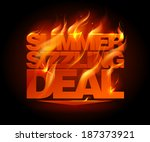 fiery summer sizzling deal... | Shutterstock .eps vector #187373921