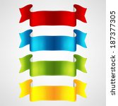colorful ribbons set | Shutterstock .eps vector #187377305
