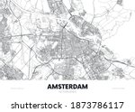 city map amsterdam netherlands  ... | Shutterstock .eps vector #1873786117