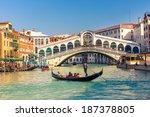 Gondola Near Rialto Bridge Venice - Fine Art prints
