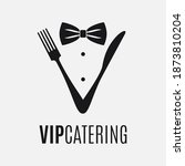 fork and knife logo. catering... | Shutterstock .eps vector #1873810204