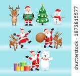 santa claus and friends for... | Shutterstock .eps vector #1873815577