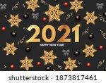 2021 happy new year elegant... | Shutterstock .eps vector #1873817461