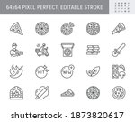 pizza delivery line icons.... | Shutterstock .eps vector #1873820617