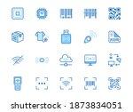 rfid  qr code  barcode line... | Shutterstock .eps vector #1873834051